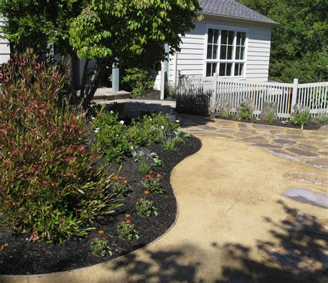 dg landscape kentfield residence decomposed granite replaced lawn curved beds with drought tolerant plants