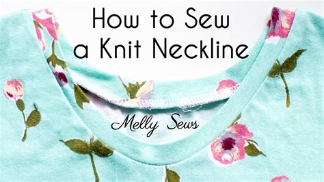 How to get a nice v on a knit v neckline. How to Sew a Stretchy Neckline - Sew Knit Neckbands and ...