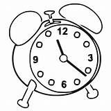 Clock Coloring Alarm Printable Cartoonized Wecoloringpage sketch template