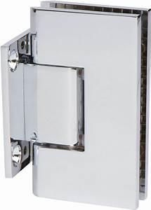 Chrome Heavy Duty Shower Glass Door Hinge