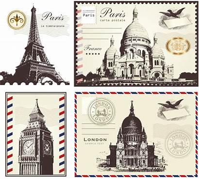 Stamps Postage France Stamp London Transparent Paris