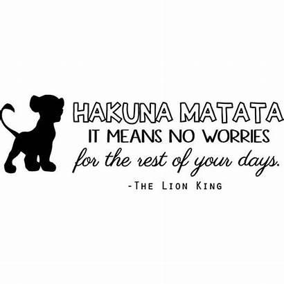 Hakuna Matata Lion King Quote Vinyl Wall