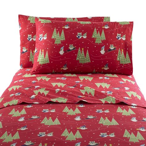cannon flannel owl sheet set home bed bath bedding