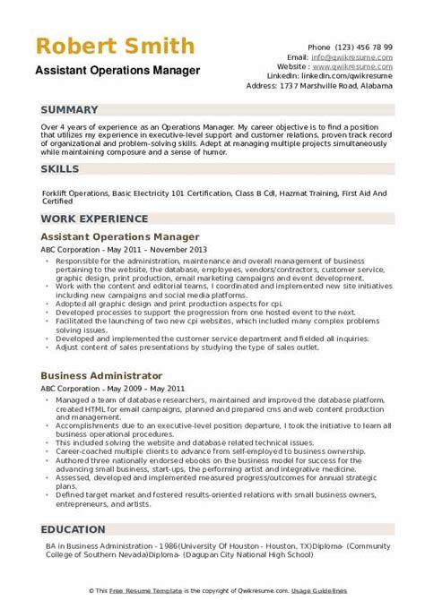 operations manager resume objective ipasphoto
