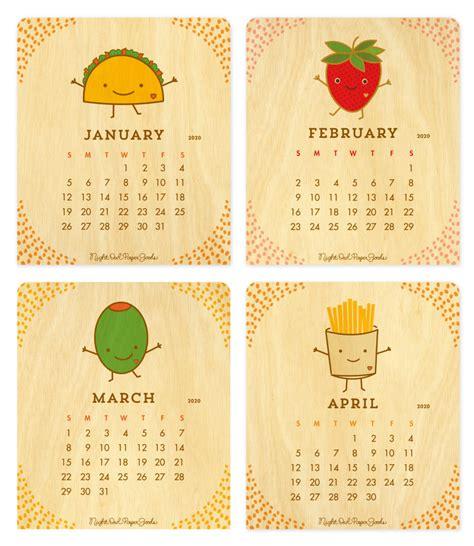 fun food desk calendar calendars gifts night owl paper