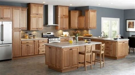 kitchen with oak cabinets unfinished oak kitchen cabinet designs rilane 6537