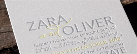 Modern Wedding Invitations   Bringing a modern twist to vintage letterpress