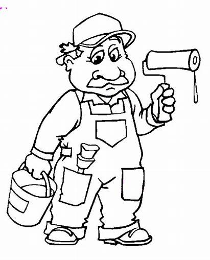 Coloring Pages Schilder Het Animated Rode Papa