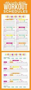 Editable Printable Workout Schedule  U2013 Printable Crush