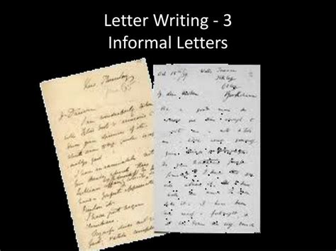 letter writing  informal letters powerpoint