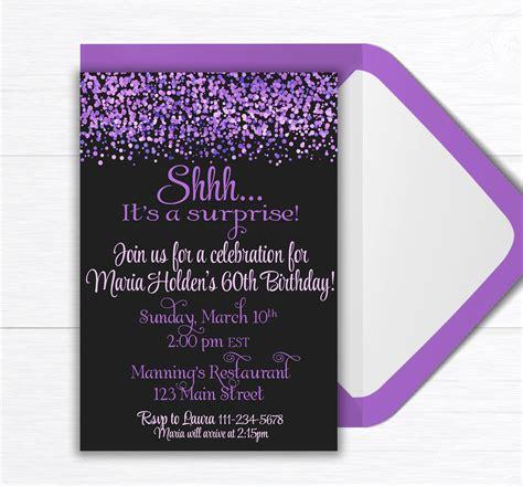 Surprise Birthday Party Invite, Birthday Party Invitation