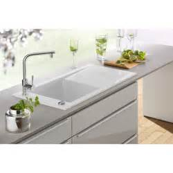 white kitchen sink faucet villeroy boch timeline 60 single bowl 1000mm x 510mm white ceramic inset kitchen sink 6790 00