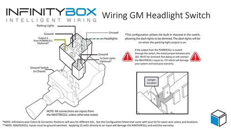 wiring diagram for gm light switch headlight switch infinitybox