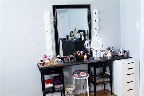 bureau maquilleuse miroir de chambre ikea