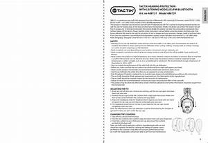 Meridian 488131 Ear Muff User Manual 488131 Instruction A6