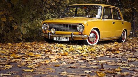 Nature, Car, Trees, Fall, Vehicle, Leaves, Vintage