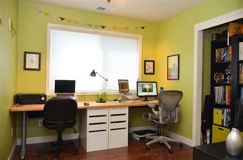 two person desk ikea hack ikea hackers micke byse built in desk diy home