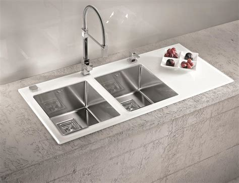 glass sinks for kitchens alveus crystalix 20 inset sink glass stainless steel olif 3812