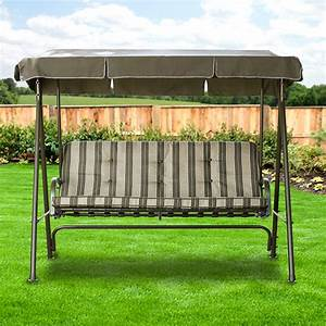 Garden Winds Replacement Canopy 3 Person Swing