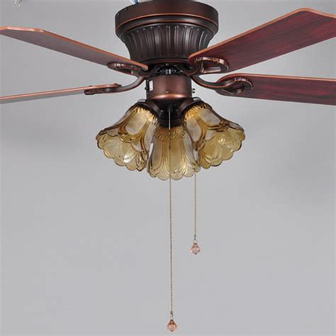 luxury ceiling fans with lights five leaves three light brown 220v luxury ceiling fan l