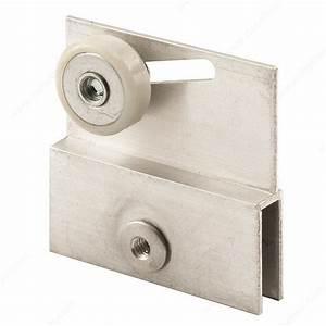 Support d39ancrage a roulette pour porte de douche for Roulette pour porte de douche