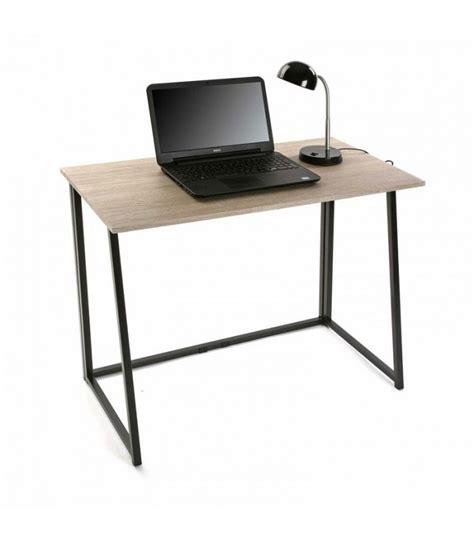 bureau vituel bureau simple en bois et métal noir wadiga com