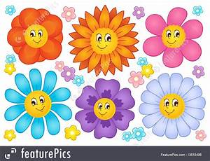 Cartoon Flowers Collection 2 Illustration