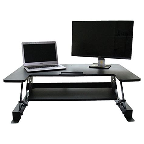 sit stand desk converter height adjustable elevating standing desk converter 36