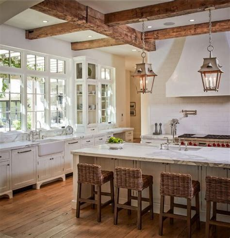 inviting kitchen designs  exposed wooden beams digsdigs