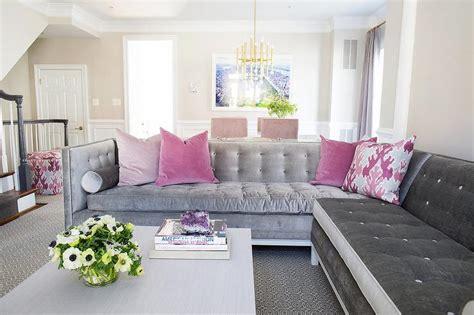 Gray And Pink Living Room With Purple Curtains Muuto Leaf Floor Lamp Mermaid Vintage Celadon Table Fish Lattice Swing Arm Wall Mount Energy Saving Lamps Unusual