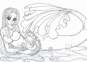 Mermaid:Colour me by resiove on DeviantArt