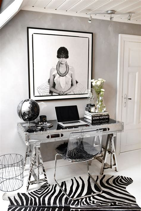 HOME OFFICE   decorating for glamour   posh organization