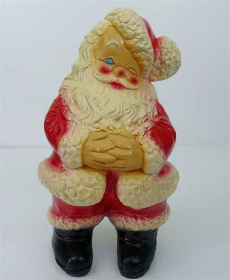 vintage retro large ceramic winking santa claus figurine