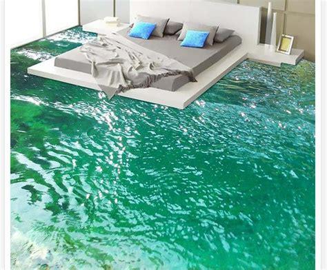 floor painting wallpaper river bathroom bedroom