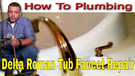 delta roman tub faucet repair youtube