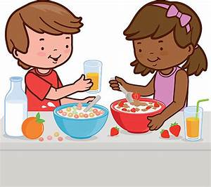 Breakfast clipart kid breakfast - Pencil and in color ...