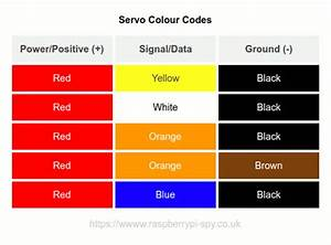 Servo Motor Wire Colour Code