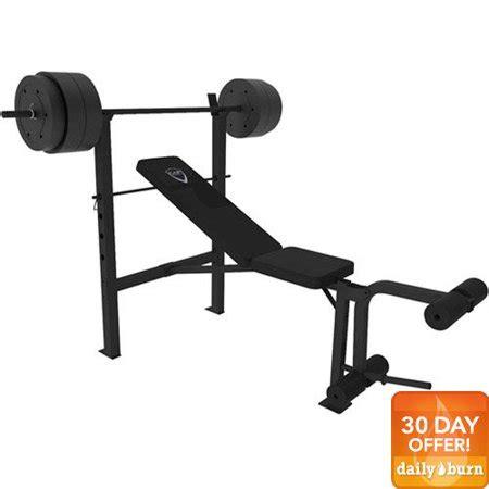 weight bench walmart cap barbell deluxe bench w 100 pound weight set walmart