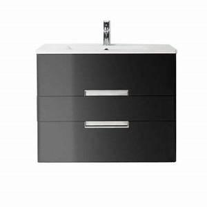 meuble de salle de bains noir 80 cm belt castorama With meuble salle de bain belt