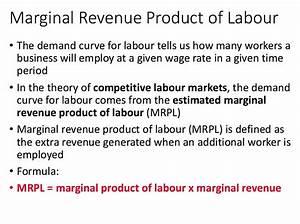 Marginal Revenue Product Formula