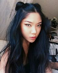 blue eyes black hair female