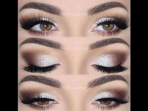 silver brown warm soft cut crease smokey eye makeup