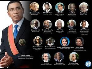 List Of Current Cabinet Ministers by List 18 Member Cabinet Sworn In News Jamaica Gleaner