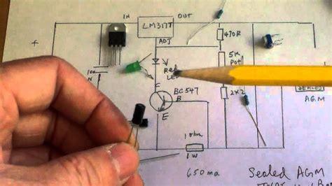 Simple Solar Charge Regulator For Volt Sealed Lead Acid
