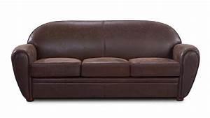 Canapé Vintage Cuir : canap club en tissu imitation cuir 3 places ultra confort vintage jazzy mobilier moss ~ Teatrodelosmanantiales.com Idées de Décoration