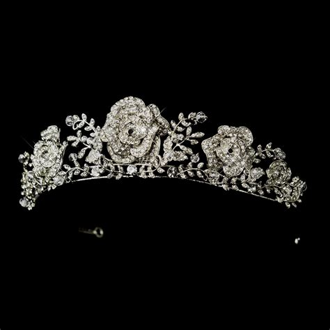 Fleur Rose Tiara Headpiece - Elegant Bridal Hair Accessories