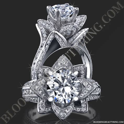 1 78 ctw original large blooming flower ring