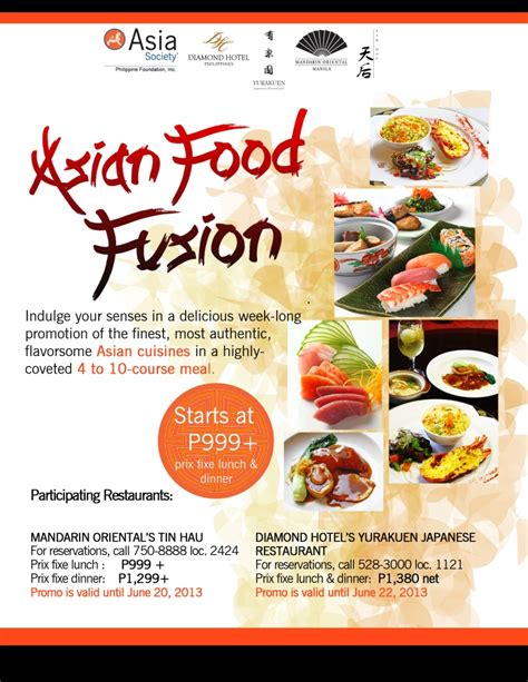 promotion cuisine food fusion society