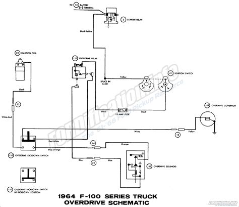 F250 Overdrive Wiring Diagram by 1964 Ford Truck Wiring Diagrams Fordification Info The