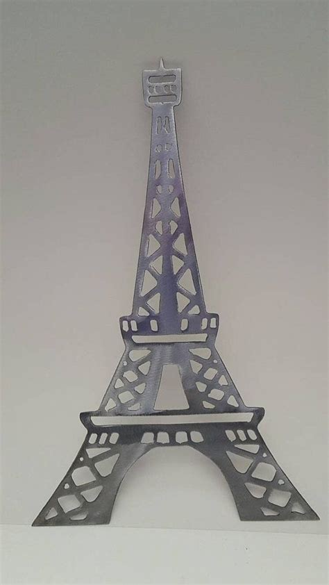 Paris photography print view of eiffel tower from trocadero purple digital printable fine art photograph travel wall decor france picture. Eiffel Tower Metal Wall Art Paris Decor Eiffel Tower Decor Paris Theme Paris Room Decor Eiffel ...